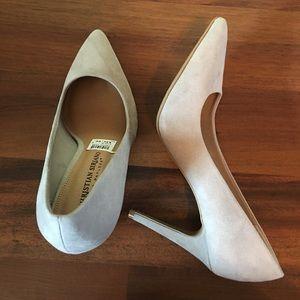 Christian Siriano Grey Matte high heels 7w